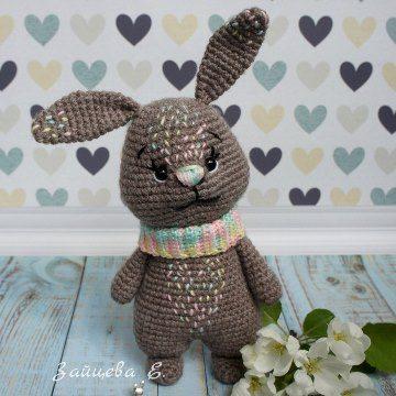 Кролик амигуруми крючком