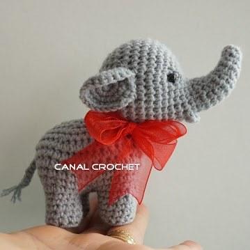 Слон амигуруми крючком