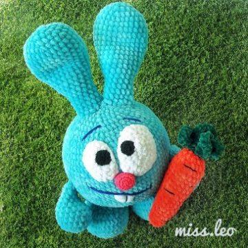 Заяц Крош амигуруми