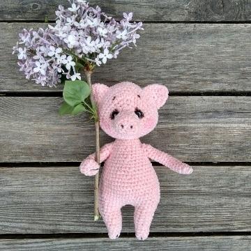 Свинка крючком амигуруми