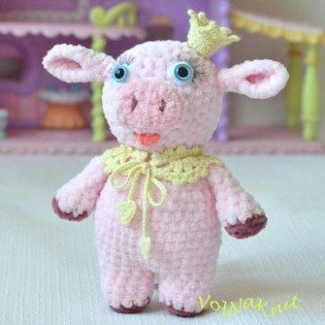 Свинка амигуруми