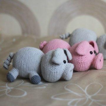 Свинки крючком
