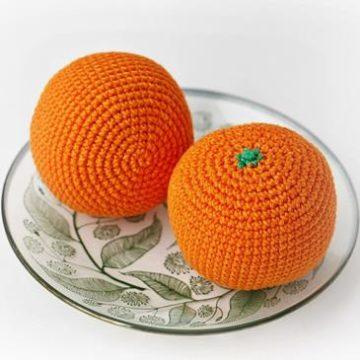 Вязаный апельсин крючком