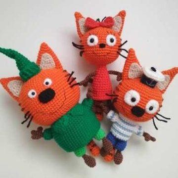 Три кота амигуруми