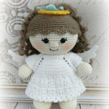Кукла пупс ангел крючком