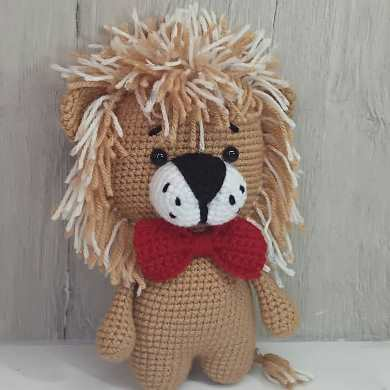Лев амигуруми крючком