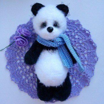 Панда амигуруми игрушка крючком