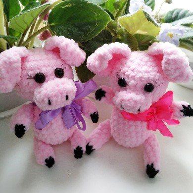 Свинки крючком амигуруми