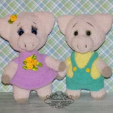 Вязаные свинки спицами