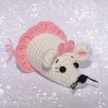 Мышь крючком амигуруми
