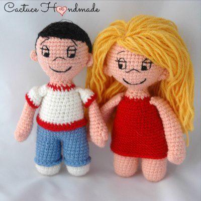 Вязаные куклы love is