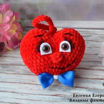 Сердечко крючком амигуруми