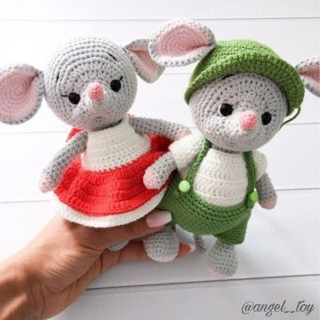Вязаные мишки амигуруми