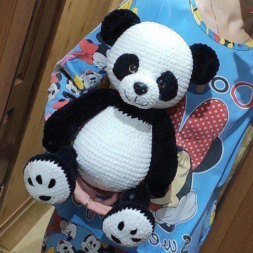 Панда амигуруми крючком