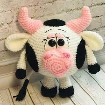 Вязаная корова крючком