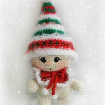 Малыш рождественский гномик