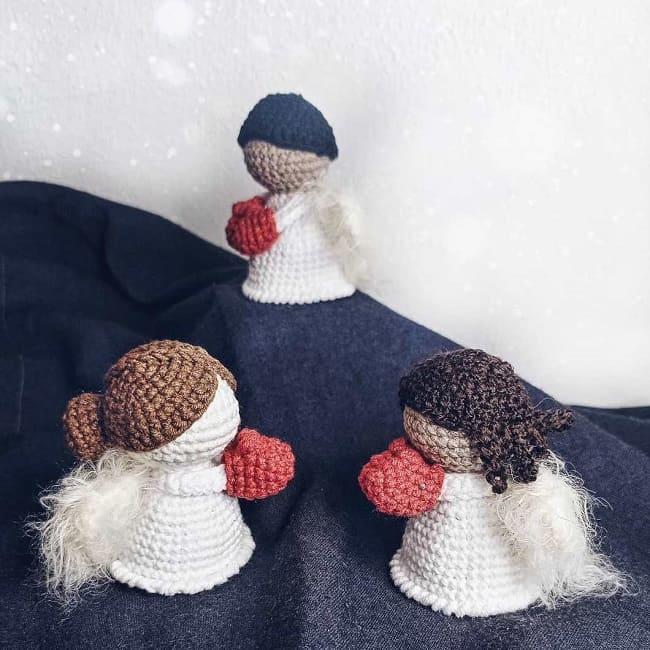 Рождественские ангелы крючком