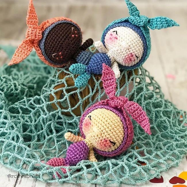Вязаные русалки амигуруми